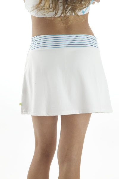 Pure Lime Pinstripe Striped Waist Skort
