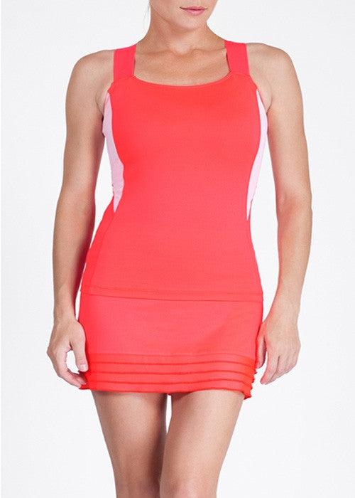 Tail Coral Glam Strappy Sorah Tank: Women's Tennis