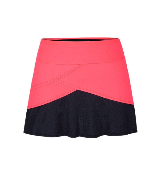 Coral Glam Abott Optic Coral Skort: Women's Tennis Apparel