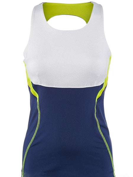 Lucky in Love High Neck Tank in Navy - mytennisstore.com