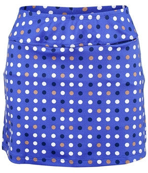 Jofit Blue Hawaiian Printed Tennis Skirt (Multi Dot)