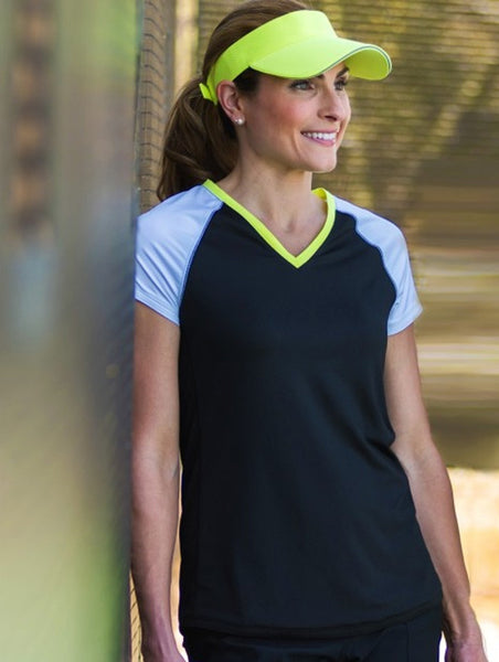Jofit Ladies Jacquard Tennis & Fitness Raglan Tee - Martini Collection at mytennisstore.com