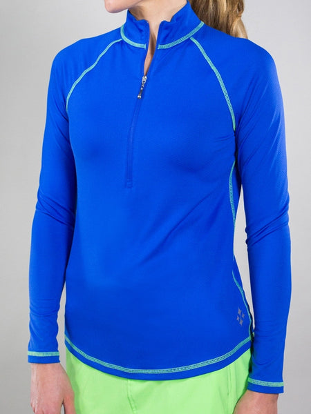 Jofit Melon Ball Long Sleeve Mock (Cobalt)