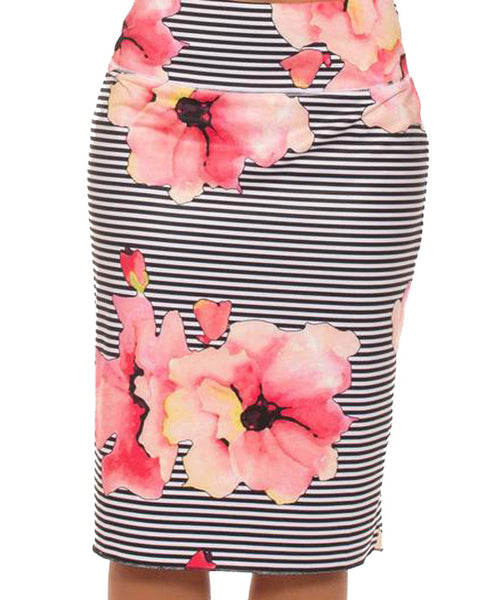 JOFIT ~ Skort (Long) Floral Stripe