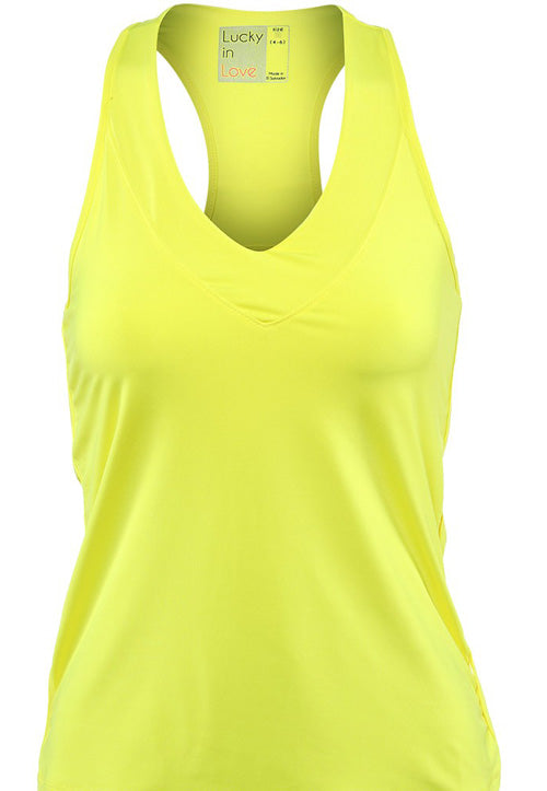 Lucky in Love ~ Women's Core Tennis Tank