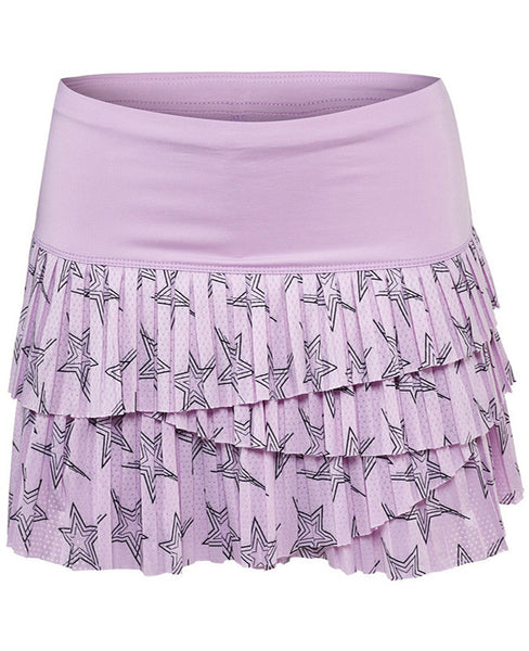 Lucky in Love ~ Hyper Wave Star Pleat Scallop Skirt