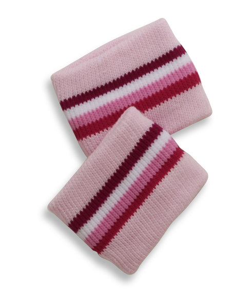 Mary Martin Designs ~ Wrist Band in Pink Chiffon & White Multi Stripe
