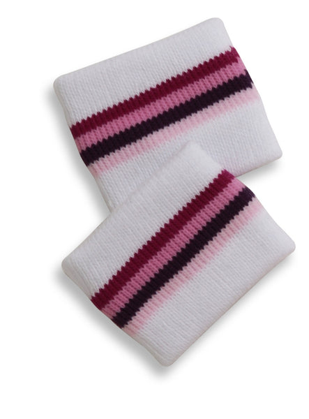 Mary Martin Designs ~ Wrist Band in White Multi Stripe