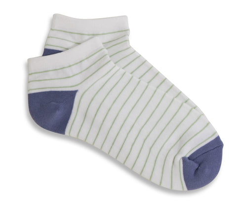 Mary Martin Designs ~ Ladies socks in white & purple dusk