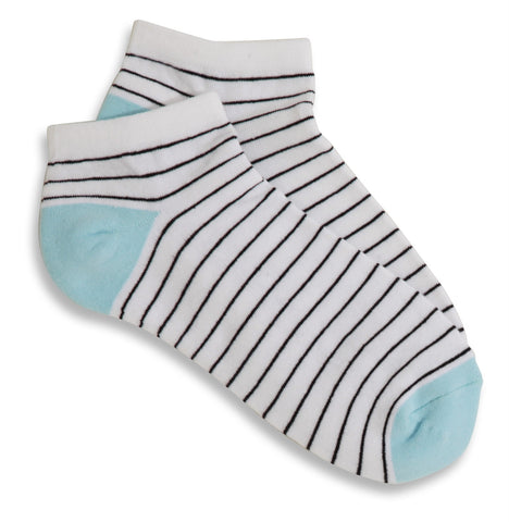 Mary Martin Designs ~ Ladies socks in white & aqua pearl