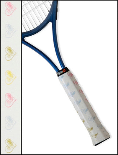 Tennis Racquet Overgrip in Sweet Hearts