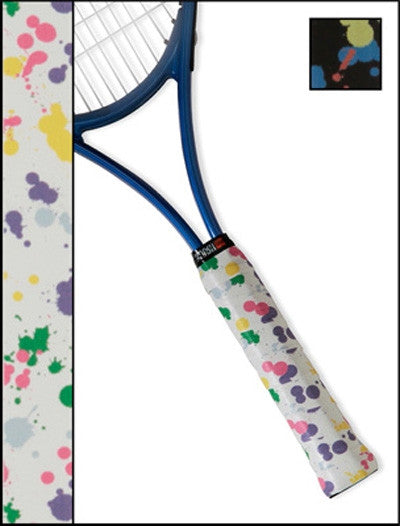 Tennis Racquet Overgrip in paint splatter