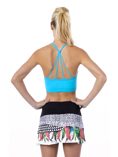 Recover ~ Criss Cross Sports Bra (Ocean)