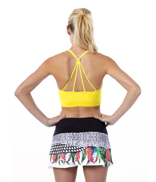 Recover ~ Criss Cross Sports Bra (Yellow)