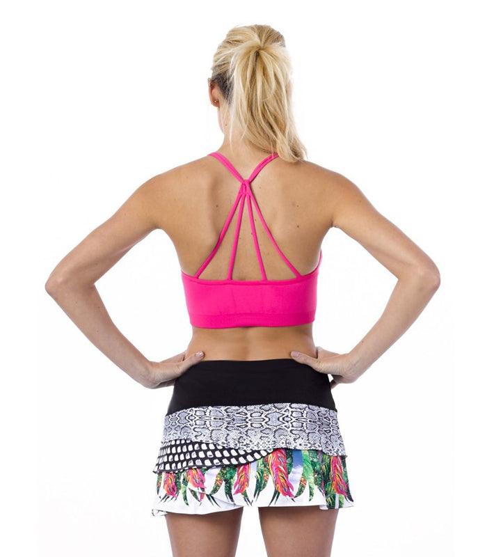 Recover ~ Criss Cross Sports Bra (Pink)