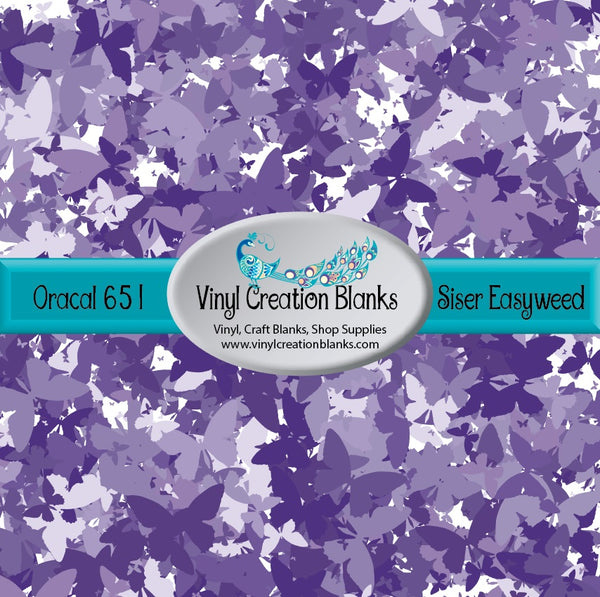Purple Butterfly Camo Vinyl