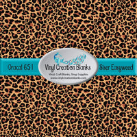 Leopard Print Pattern Outdoor Vinyl or HTV