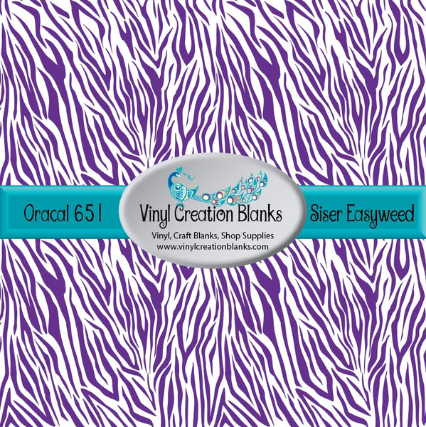 Purple Zebra Stripes Vinyl