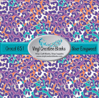 Teal and Purple Leopard Vinyl