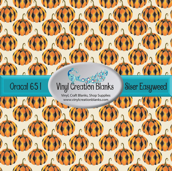 Argyle Pumpkins on Cream Vinyl