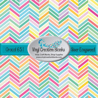 Easter Chevron Pattern Vinyl