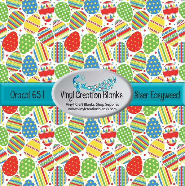 Easter Egg Pattern Vinyl