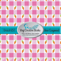 Carrots on Pink Buffalo Plaid Vinyl