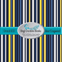 Blue and Yellow Stripes Vinyl
