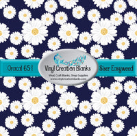 Daisies on Navy Vinyl