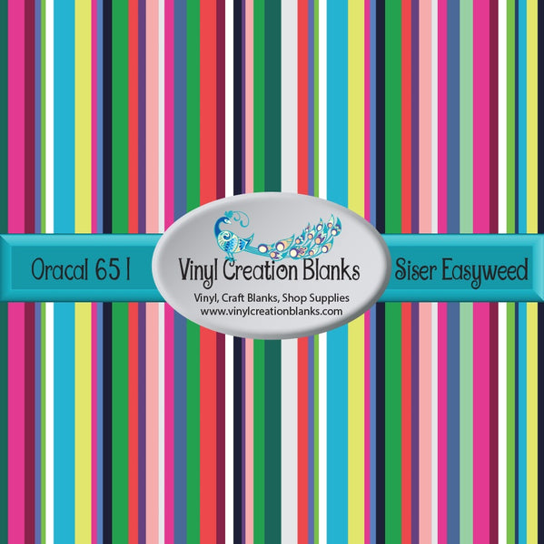 Garden Flower Stripes Vinyl