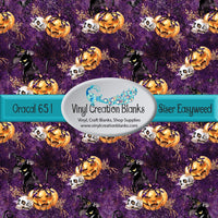 Black Cats on Purple, Large Pattern Repeat