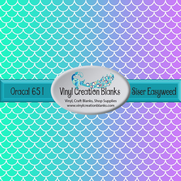 Horizontal Mermail Scale Pattern Vinyl
