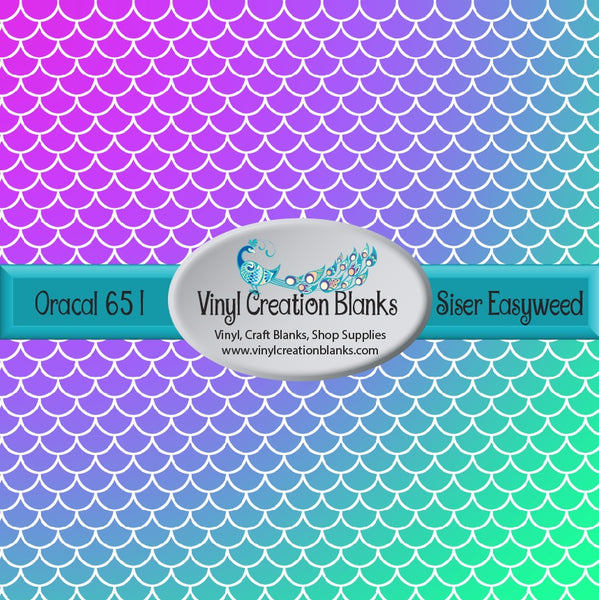 Radial Mermaid Scale Pattern Vinyl