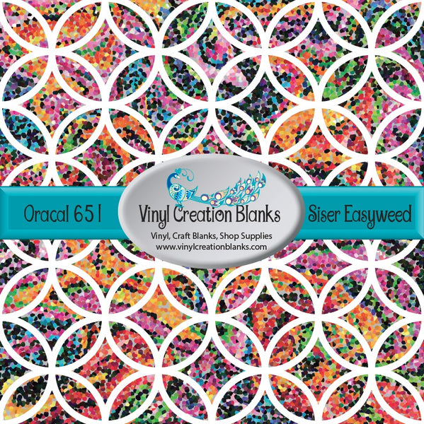 Bright Garden Flowers Mosaic Lattice Vinyl