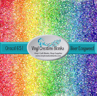 Rainbow Rock Candy Mosaic Crystals Vinyl
