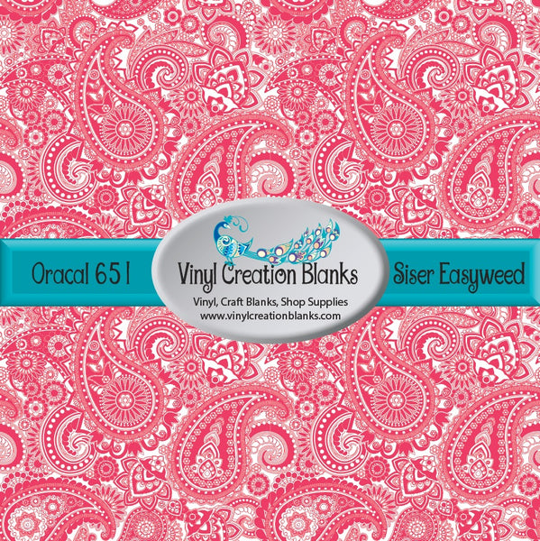 Passion Pink Paisley Vinyl