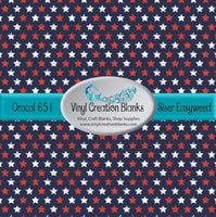 Patriotic Star Pattern Vinyl