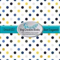 Blue and Yellow Polka Dots Vinyl