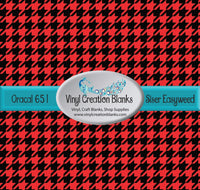 Red and Black Houndstooth Vinyl