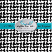 Black and White Houndstooth Vinyl