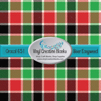 Red Green and Black Cream Plaid Vinyl