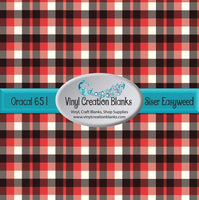 Red, Black, and White Plaid Vinyl