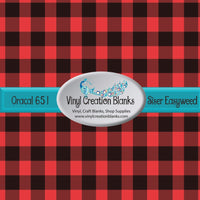 Buffalo Plaid Self Adhesive Vinyl and Heat Transfer Vinyl (HTV) 4' by 1' Roll