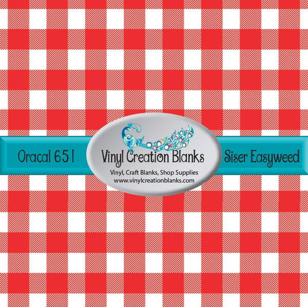 Red and White Buffalo Plaid Vinyl