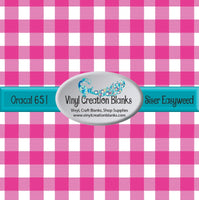 Hot Pink and White Buffalo Plaid Vinyl