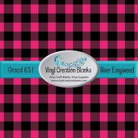 Hot Pink and Black Plaid Vinyl