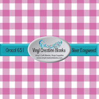 Pink and White Buffalo Plaid Vinyl