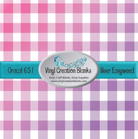 Pink to Purple Buffalo Plaid Vinyl