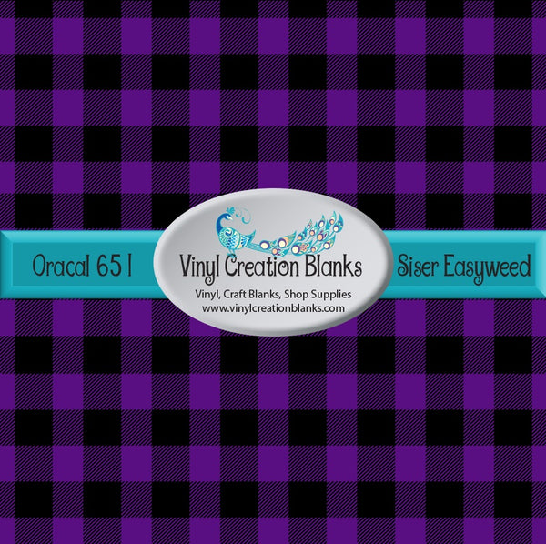 Purple and Black Buffalo Plaid Vinyl