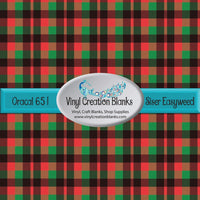 Green Red and Black Plaid Vinyl